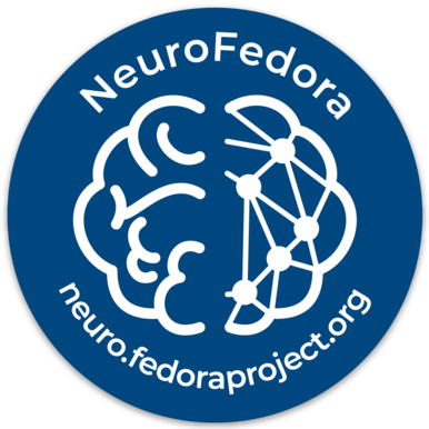 The NeuroFedora sticker!
